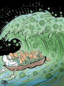 کاریکاتور / موج چهارم کرونا