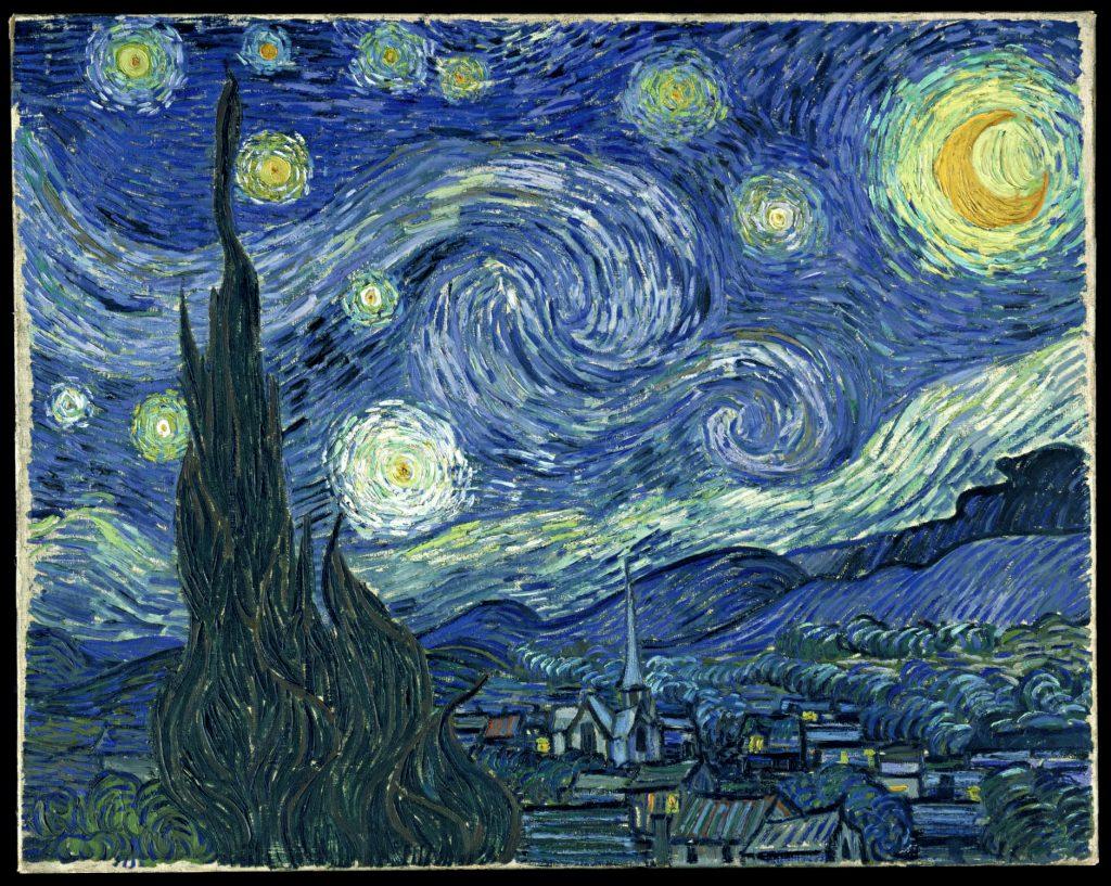 """نقاشی """"شب پر ستاره"""" اثر """"ونسان ون گوگ"""""""